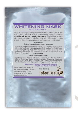 Heber Farma. Mascarillas. TTS Whitening Mask 6 uds.