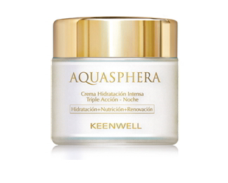 Keenwell. Aquasphera. Crema Hidratante Intensa Triple Acción Noche 80 ml